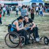Festivaliers en fauteuil roulant, solidays 2018