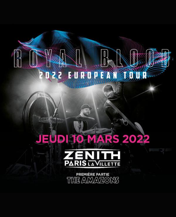 Concert Zenith Paris Royal Blood 2022