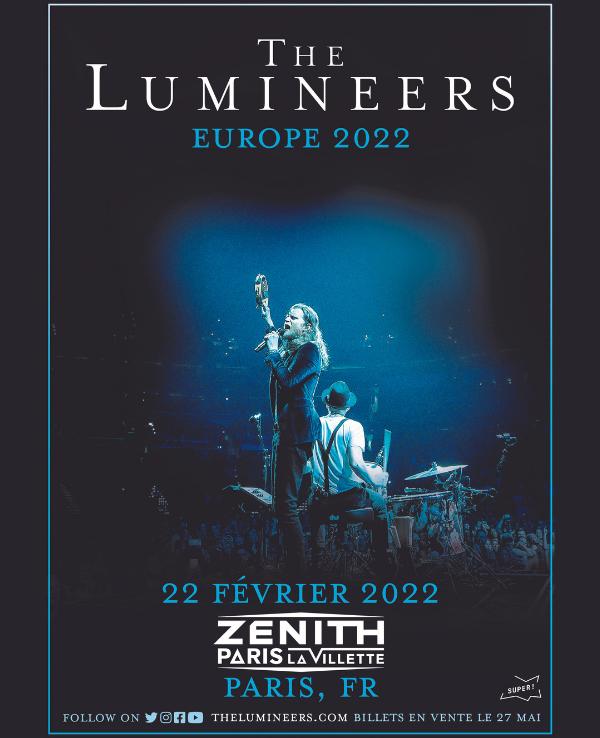 The Lumineers 2022 Zénith Paris La Villette